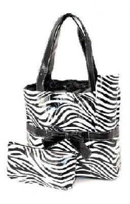 $65.50 Zebra Print Diaper Tote Bag