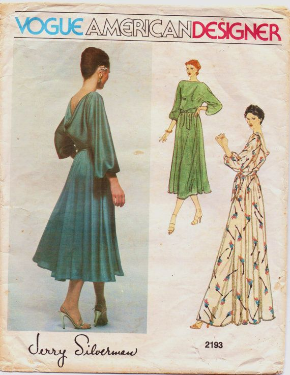 70s Vogue American Designer Pattern 2193 Jerry by CloesCloset ...