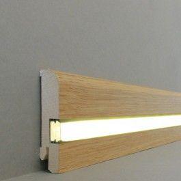 Licht Fussleisten Licht Sockelleisten Kiel Echtholzfurnier 20 80 1l Eiche Lackiert Led Fusslei Sockelleisten Beleuchtungsideen Innenbeleuchtung