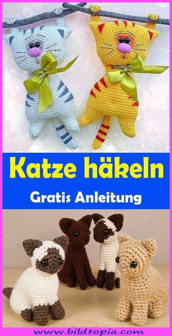 Amigurumi Katze häkeln – kostenlose DIY Anleitung #sewtoys