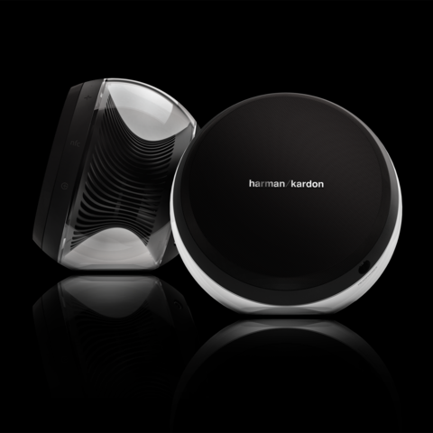 Beautiful speakers from Harman Kardon. Bluetooth connectivity and great sound.