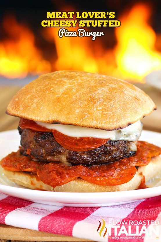 Lover's Cheesy Stuffed Pizza Burger is a combination of two of our fami...  - recipes -