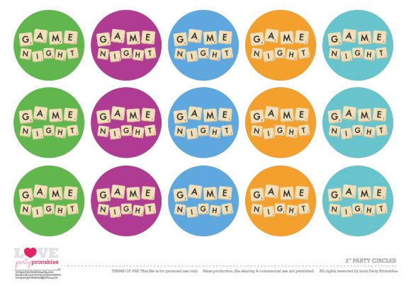 Free Game Night Party Printables Catchmyparty Com Game Night Parties Party Night Game Night