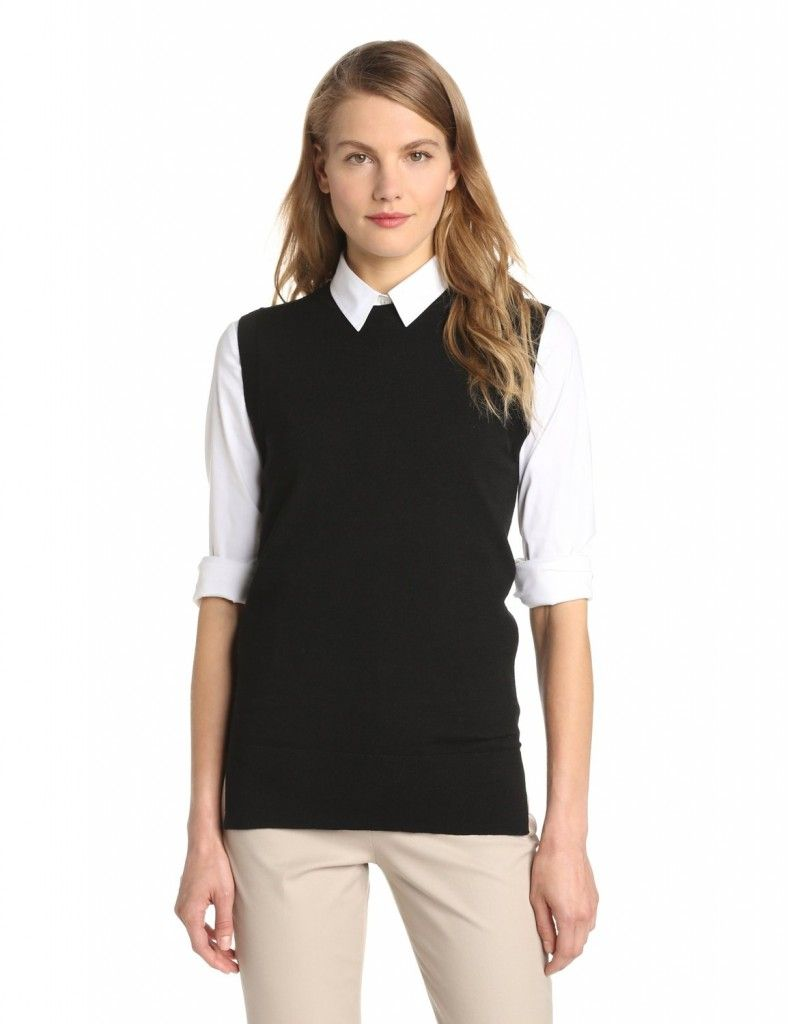 black-sweater-vest | Sweater Vest | Pinterest | Vests, Sweaters ...