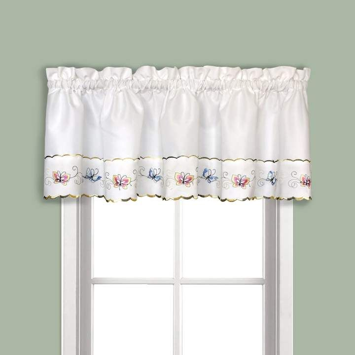 United Curtain Co Butterfly Tier Window Valance 52 X 12