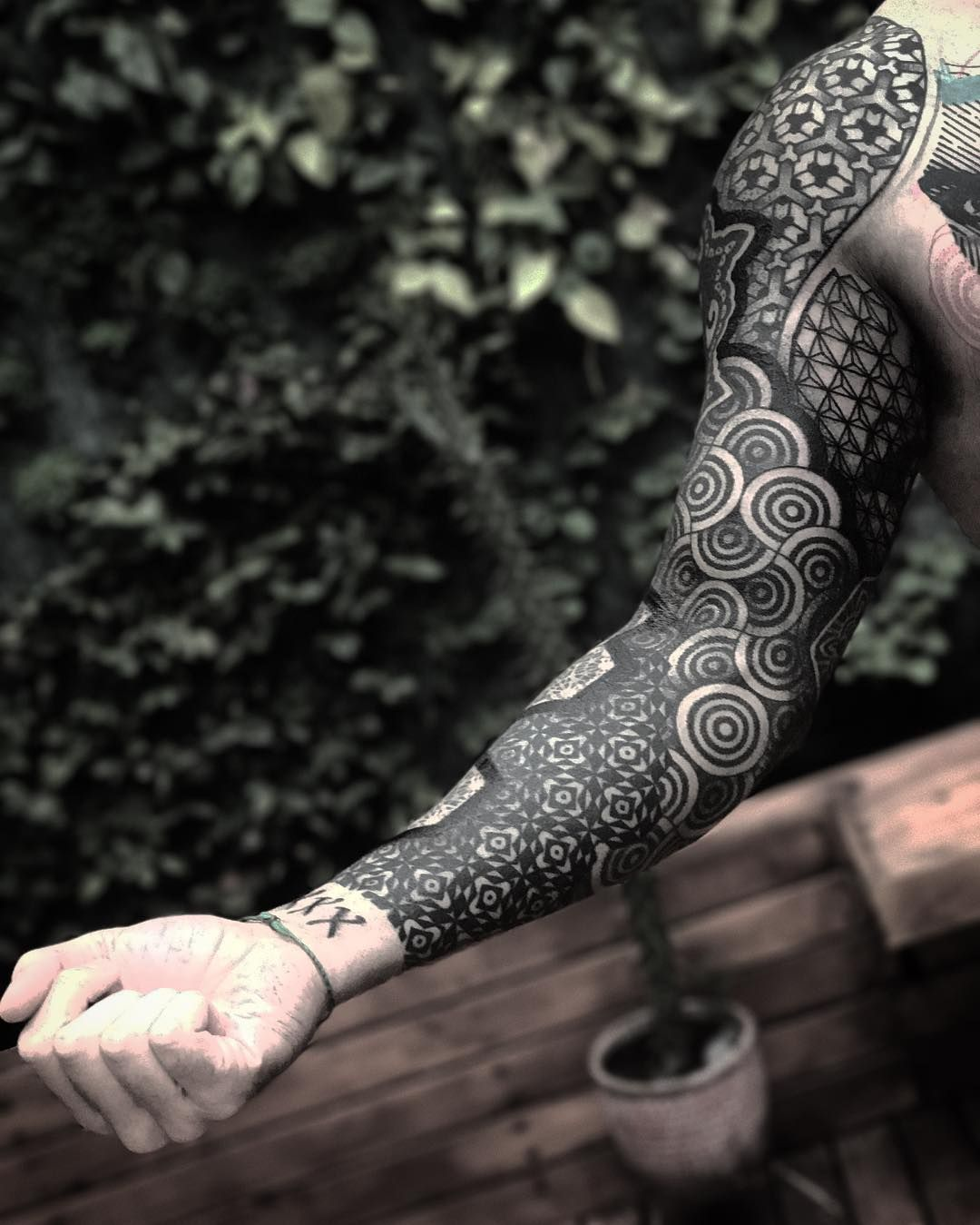 Geometric Sleeve Full Sleeve Tattoos Sleeve Tattoos Geometric Sleeve Tattoo