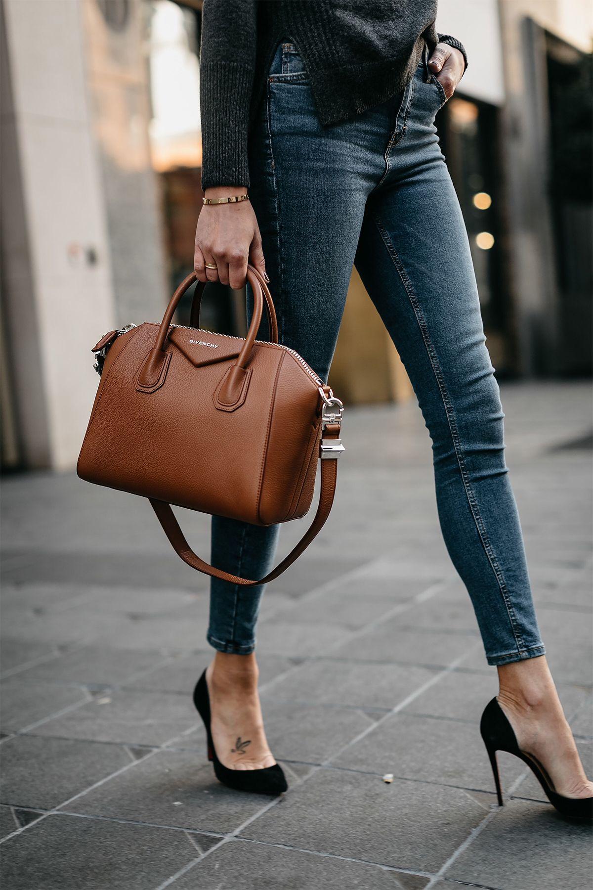 22a413798a11 Denim Skinny Jeans Givenchy Antigona Cognac Handbag Black Pumps Fashion  Jackson Dallas Blogger Fashion Blogger Street Style