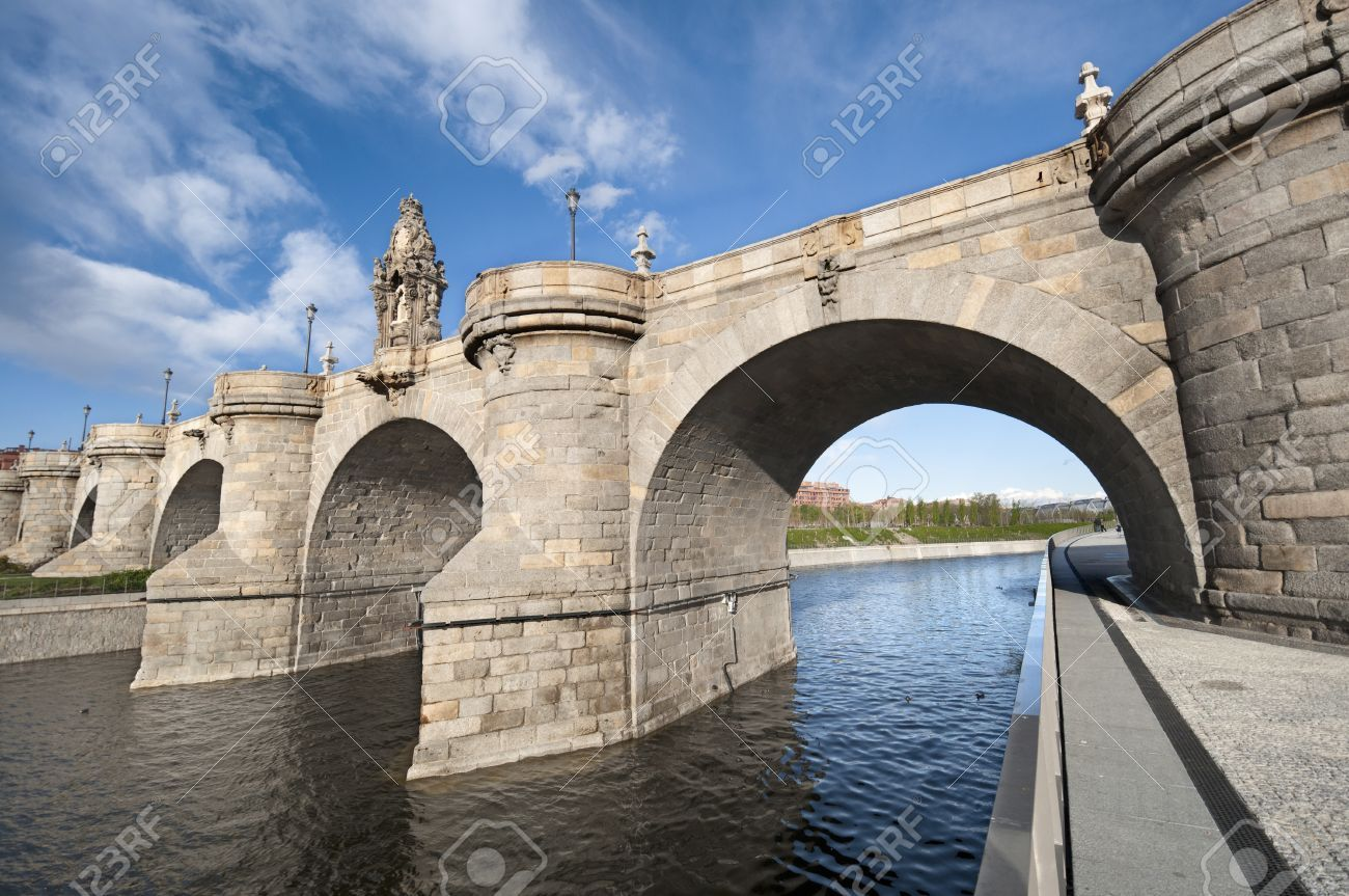 Views Of Toledo Bridge Puente De Toledo In Spanish Over Manzanares Toledo Madrid Spain Photo