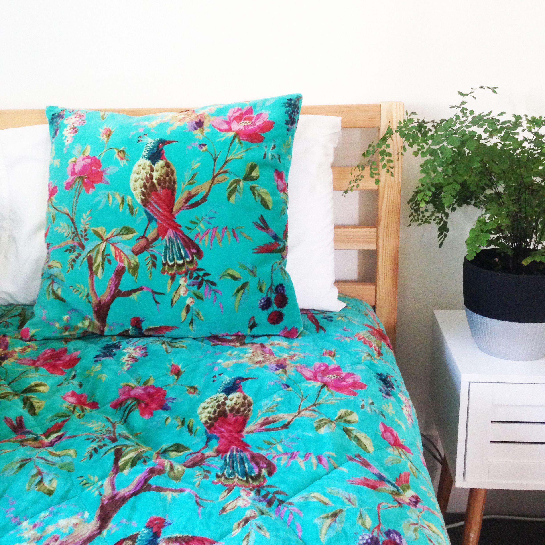 Aqua Paradise Cushion Throw In Sumptuous Velvet Www Rosaliving