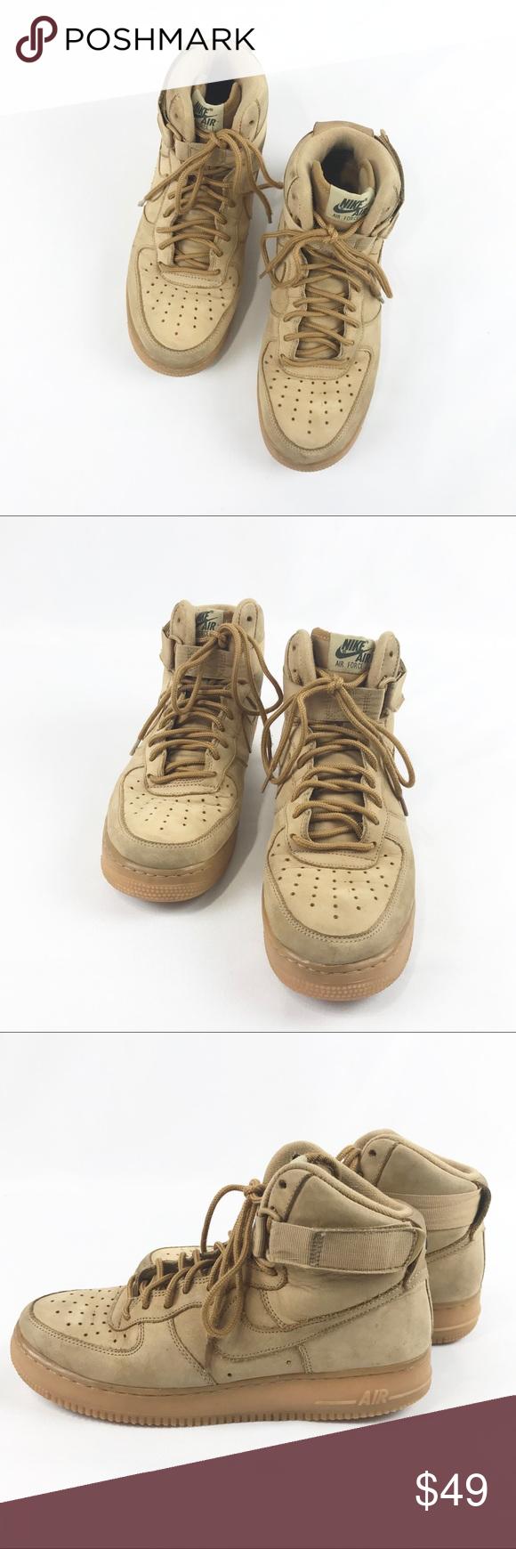 [Nike] Air Force 1 Wheat Nubuck Nike air force, Nike