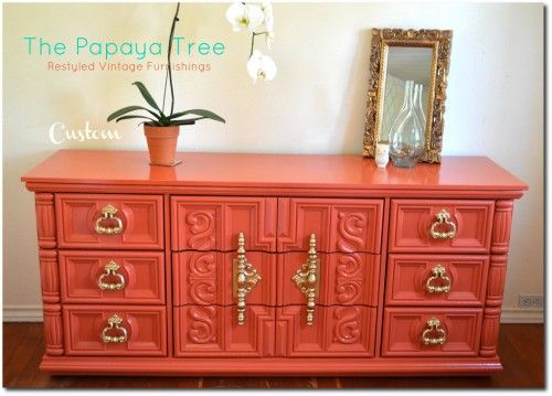 brightly painted furniture. lesly lozanou0027s painted furniture the papaya tree keywordsmod brightly a