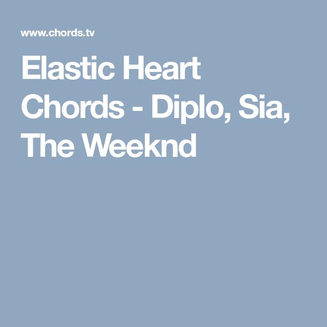 Elastic Heart Chords - Diplo, Sia, The Weeknd | Sheet Music ...