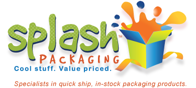 For lower prices on in-stock wholesale packaging, Splash Packaging offers quick shipping and easy online ordering!