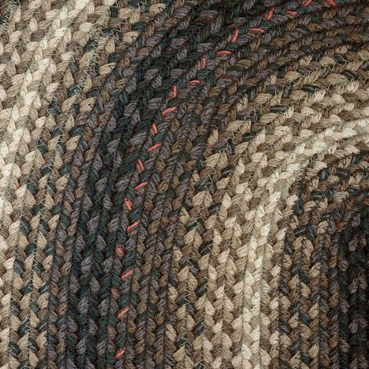 Kenya Oval Braided Rug 20x30 Measures Colors