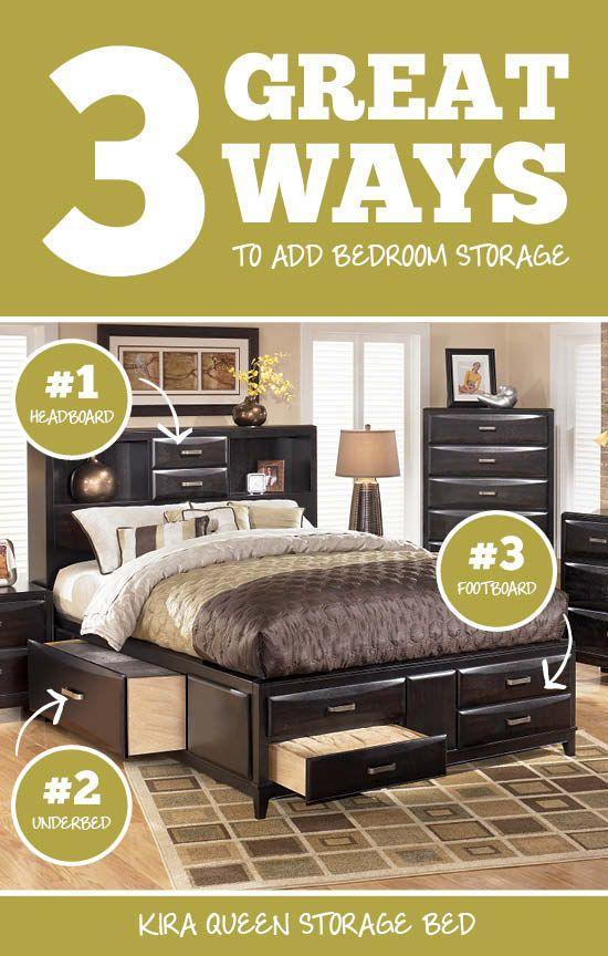 Kira Queen Storage Bed - Ashley Furniture & Kira Queen Storage Bed - Ashley Furniture | Cozy Bedrooms ...