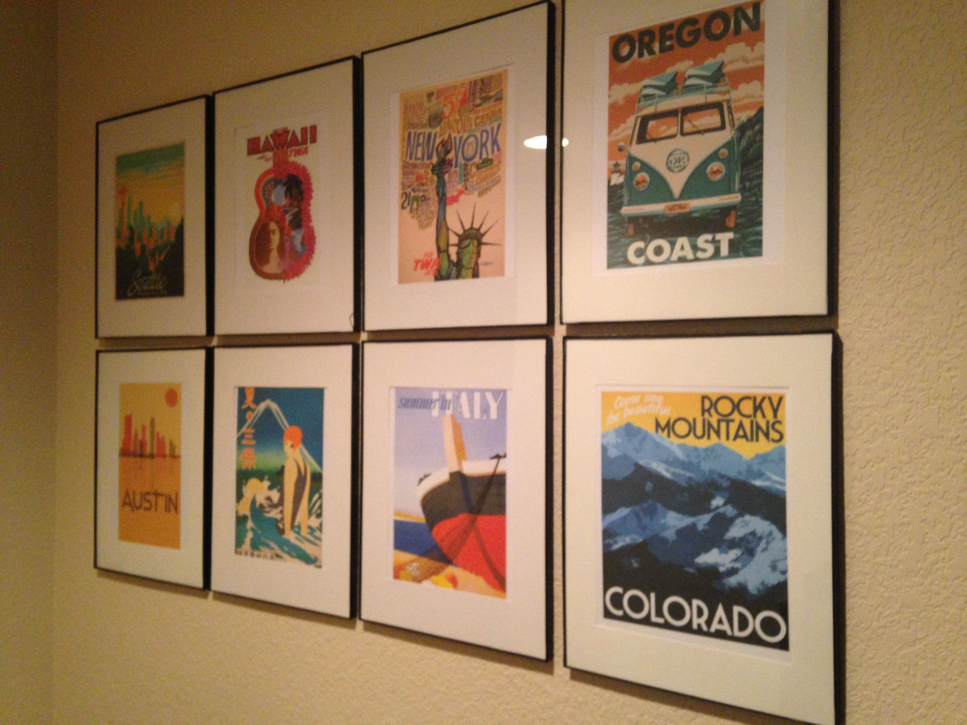 Framed Posters In 2020 Vintage Travel Bedroom Vintage Travel Themes Poster Display