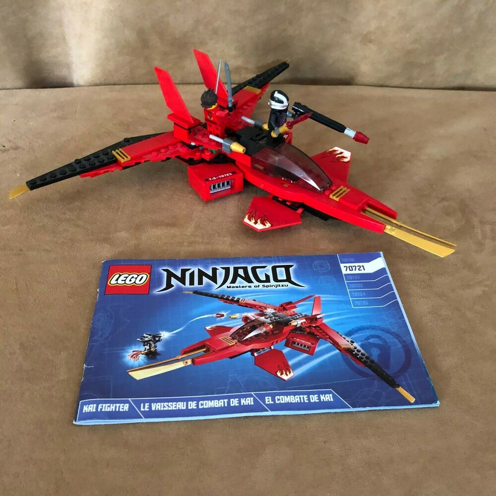 70721 Lego Complete Ninjago Kai Fighter Minifigures Red Plane Instruction Book Lego Ninjago Kai Ninjago Lego