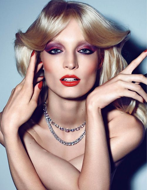 Pink Purple And Orange 70s Disco Makeup Disco Makeup 70s