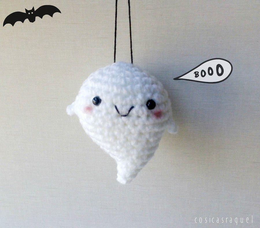 Fantasma estilo Kawaii de amigurumi para Halloween | Patrones ...