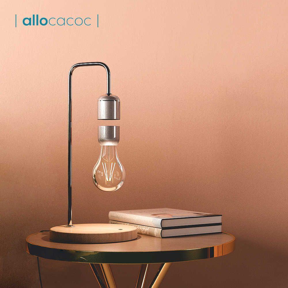 Allocacoc Levitating Light Bulb Table Lamp Night Light Home Decor Table Lamp Lamp Night Lamps