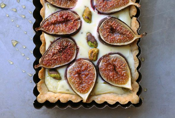 Fig Tart with Goat Cheese and Pistachios
