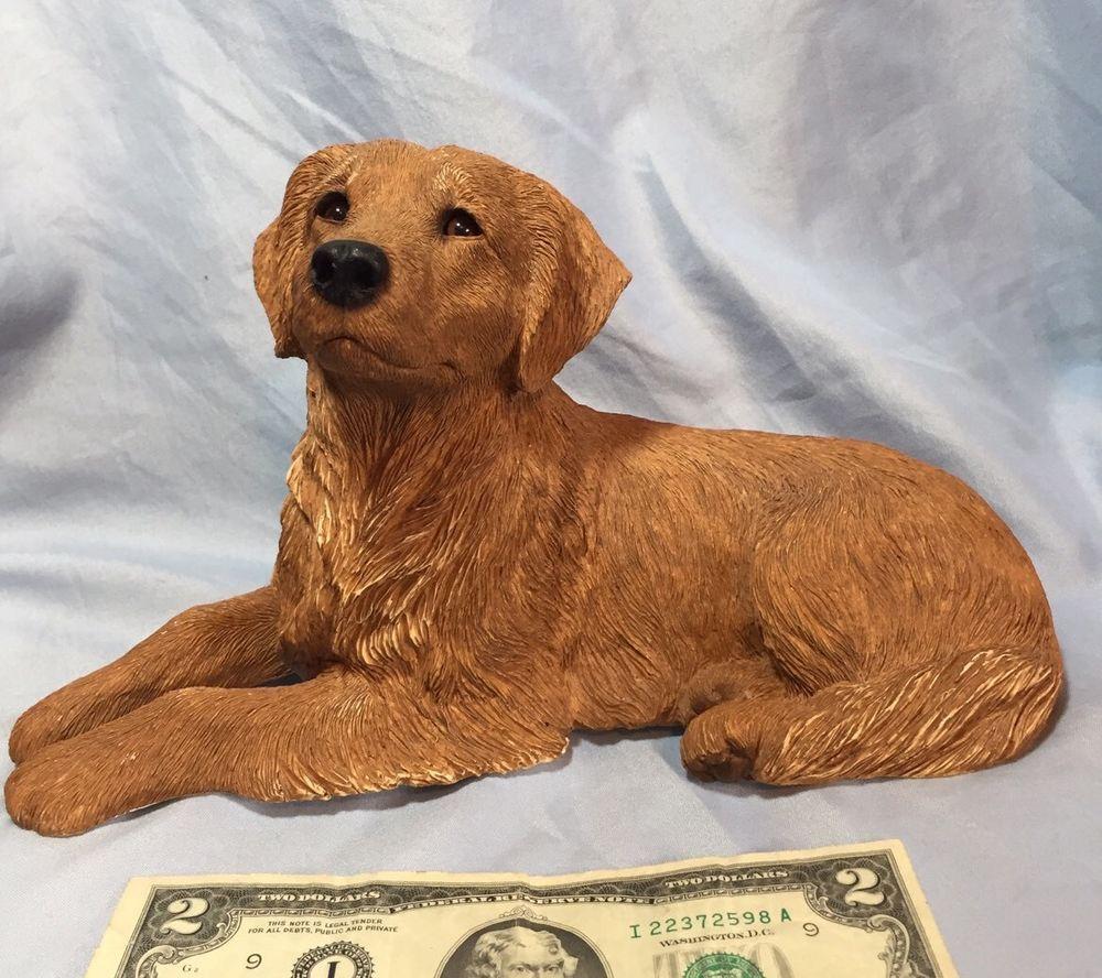 Vintage Sandicast 375 Golden Retriever 1991 Brue Usa Dog Golden