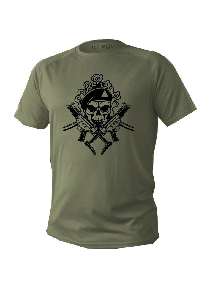 3071aa1f T shirt Men man dry fit short sleeve green olive military design army skull  new #APC #BasicTee