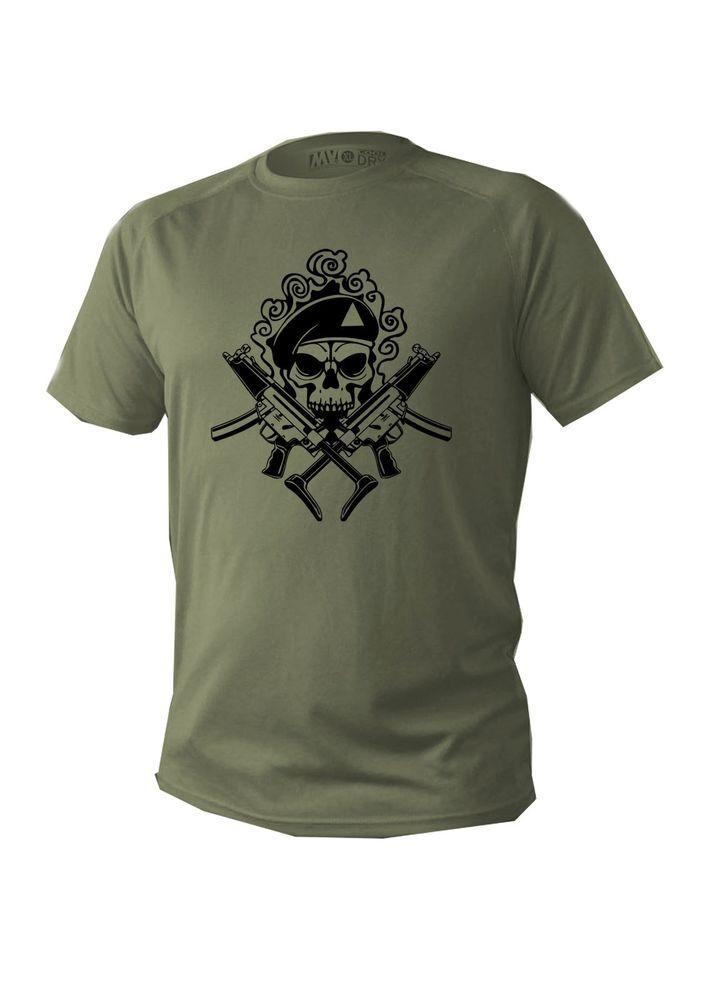 T shirt Men man dry fit short sleeve green olive military design ...