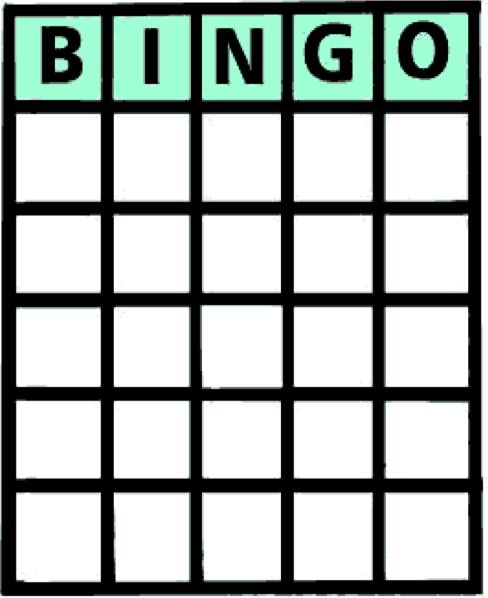 Blank Bingo Card Hand Out A Page With Lab Equipment Pictures Or