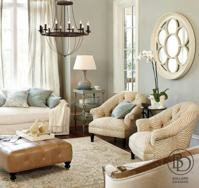 Vivacious Colorful Living Rooms Fun And Comfort: Ballard Designs Favorite Paint Colors