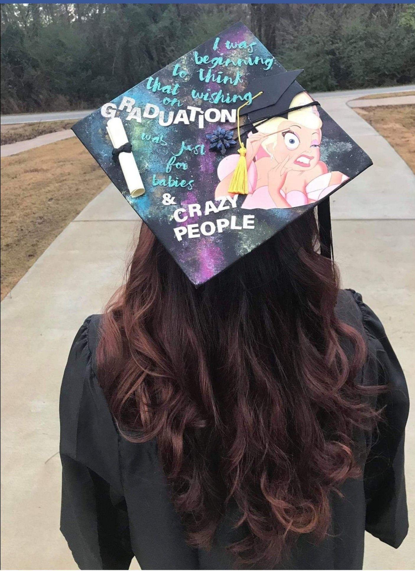 Disney Graduation Cap Graduationcapdesigns Disney Graduation Cap Disney Graduation Cap Disney Graduation Graduation Cap Decoration