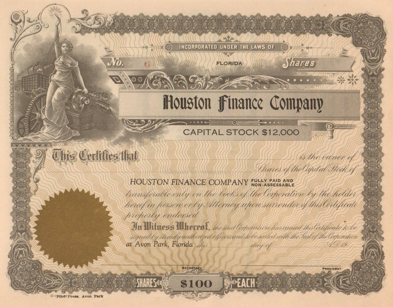 Houston Finance Company 1929 Avon Park Fl