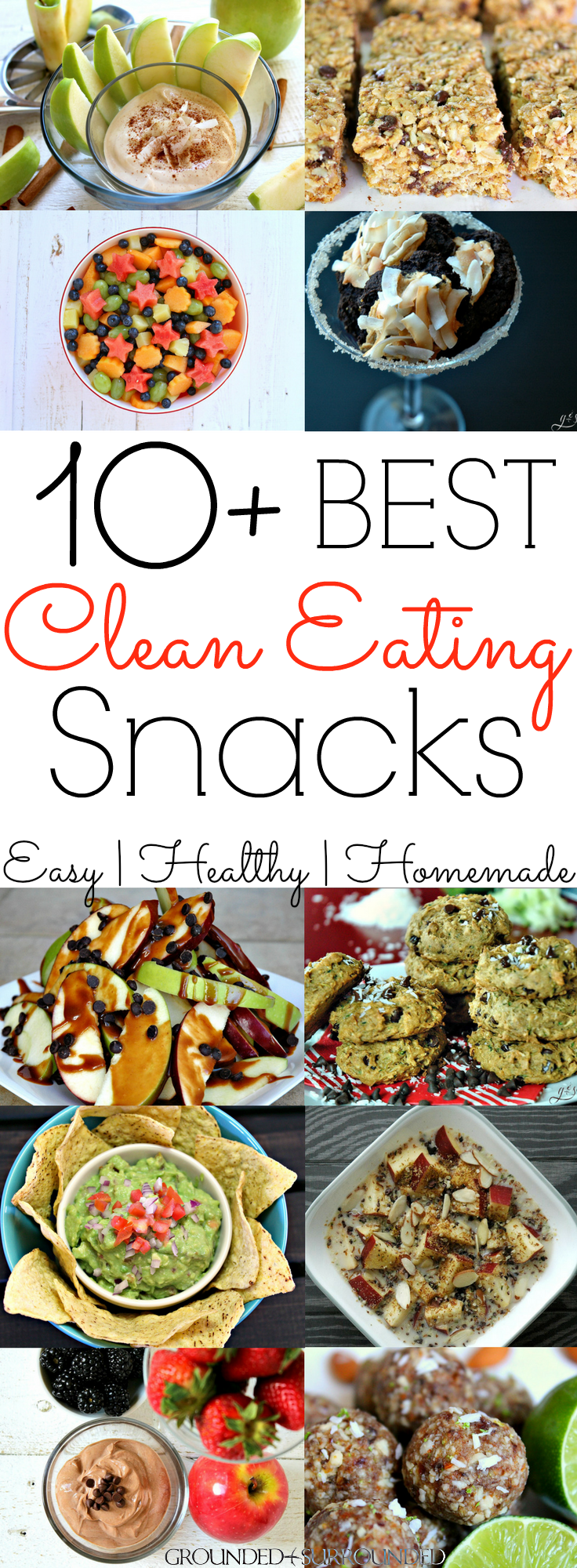 10+ Clean Eating Snack Recipes   Grounded and Surrounded -Featured at the Home Matters Linky Party #123