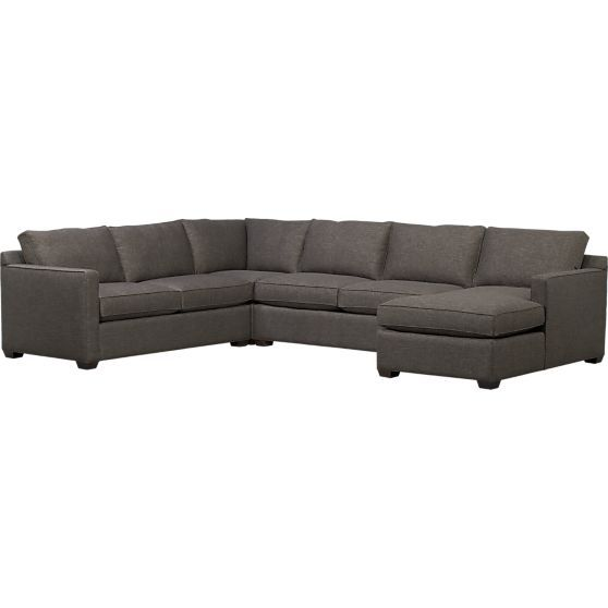 Best Davis 4 Piece Sectional Sofa In Sectional Sofas Crate 400 x 300