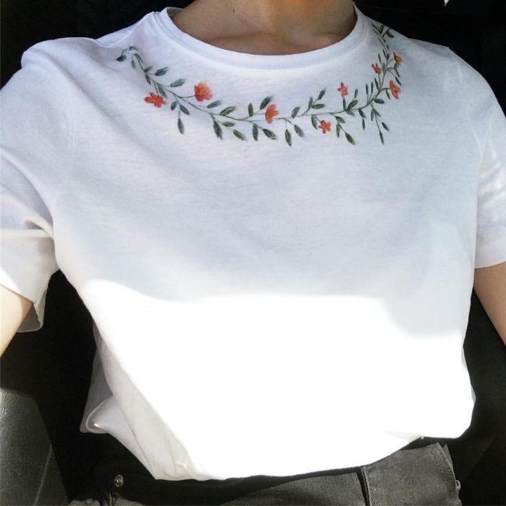 ADIDAS T Shirt mit Logo Stickerei in Grau Schwarz online