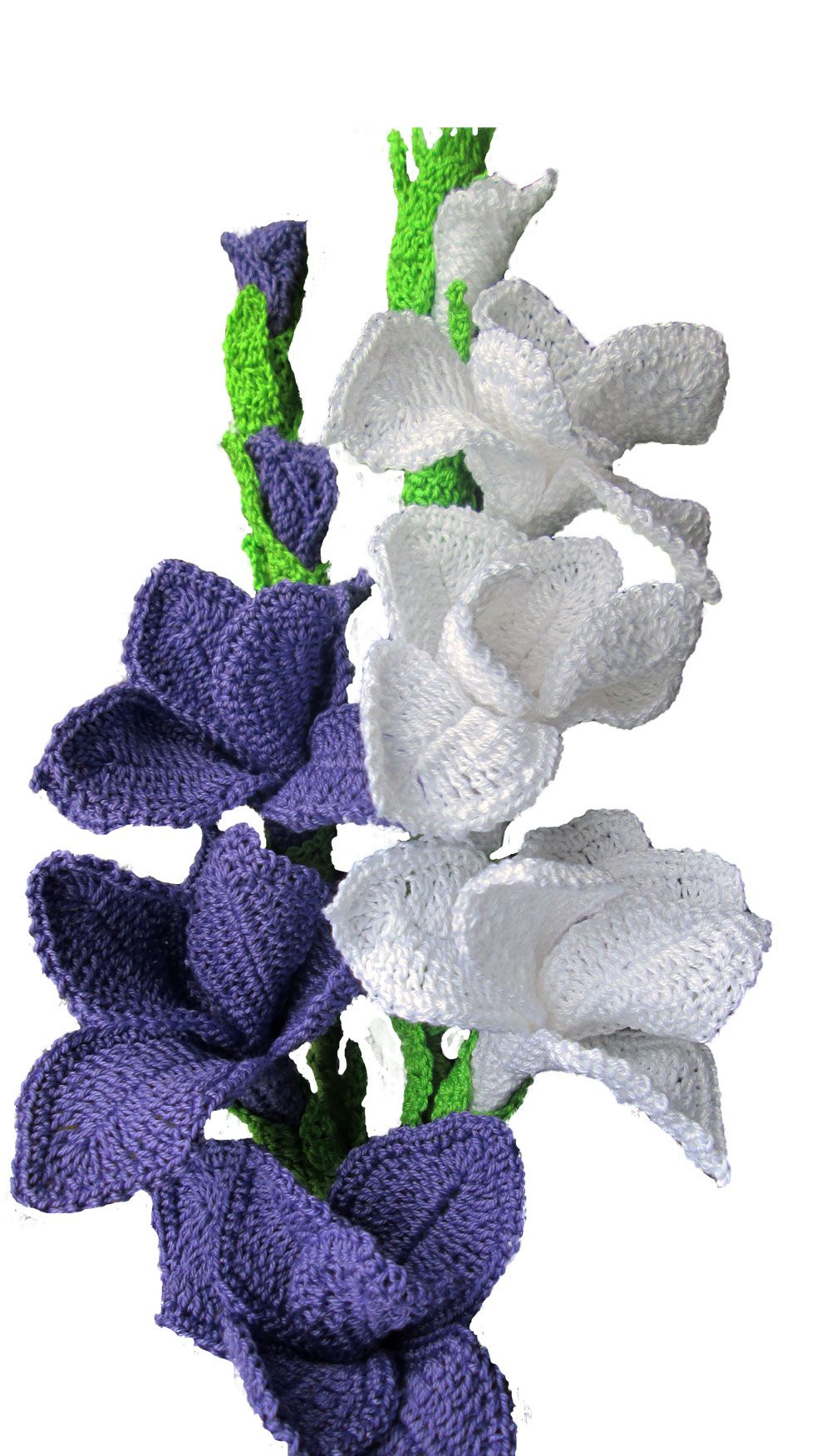 New Floral Ensamble Gladiolus and Cattails Crochet Pattern | tejidos ...