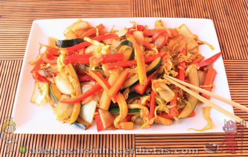 Receta saludable de chop suey de verduras bajo en calor as - Comidas sanas y bajas en calorias ...