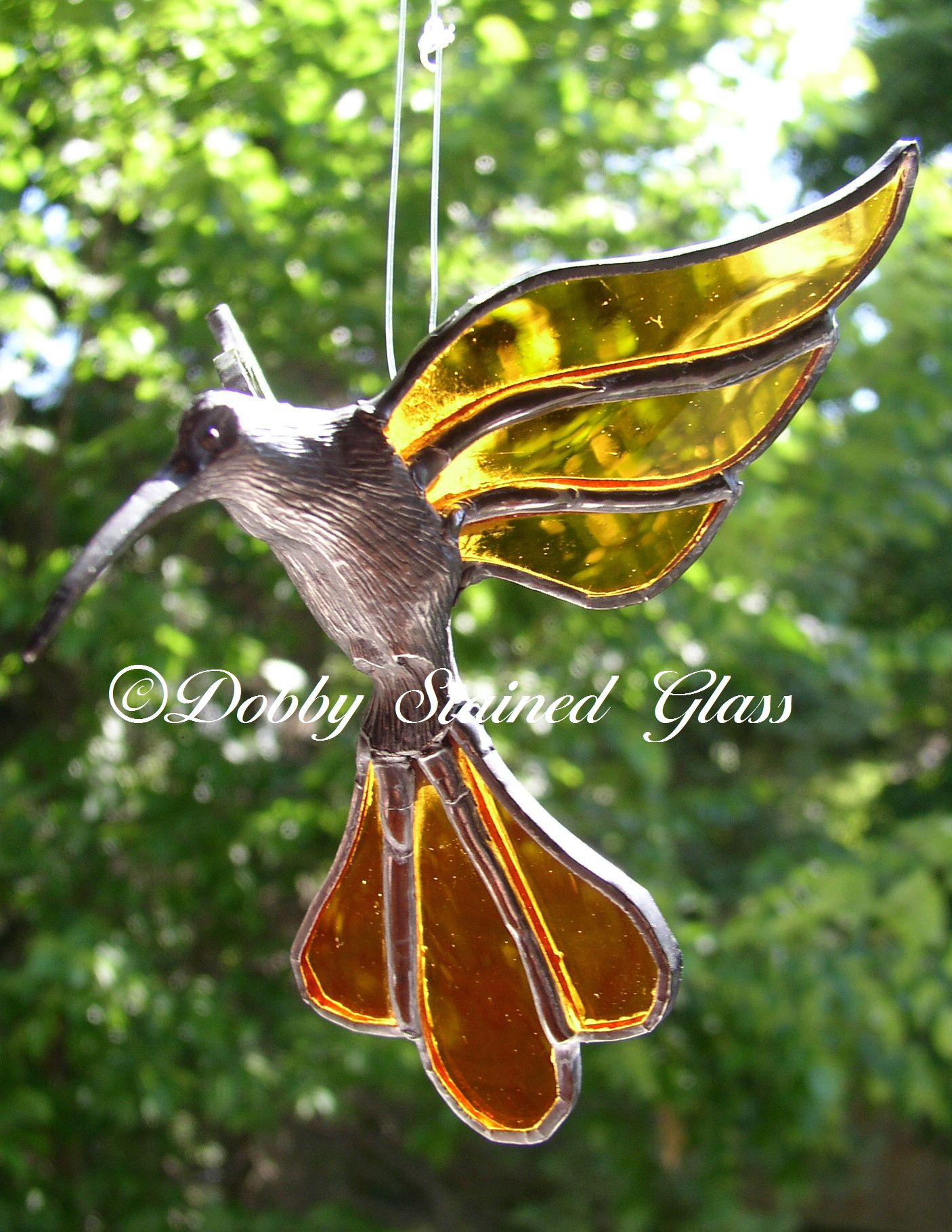 Stained Glass Hummingbird | Christmas ornaments, Stained ...