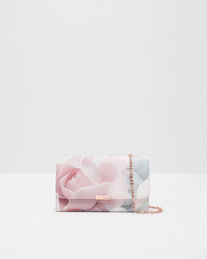 Abendtasche Mit Porcelain Rose Print Pink Taschen Ted Baker De Rosa Tasche Abendhandtasche Unterarmtasche