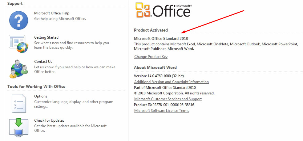 microsoft office standard 2010 free download full version with product key