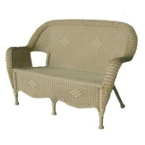 Patio Furniture: Hampton Bay Cape Cod Nutmeg Resin Wicker Love Seat + 2  Chair Set