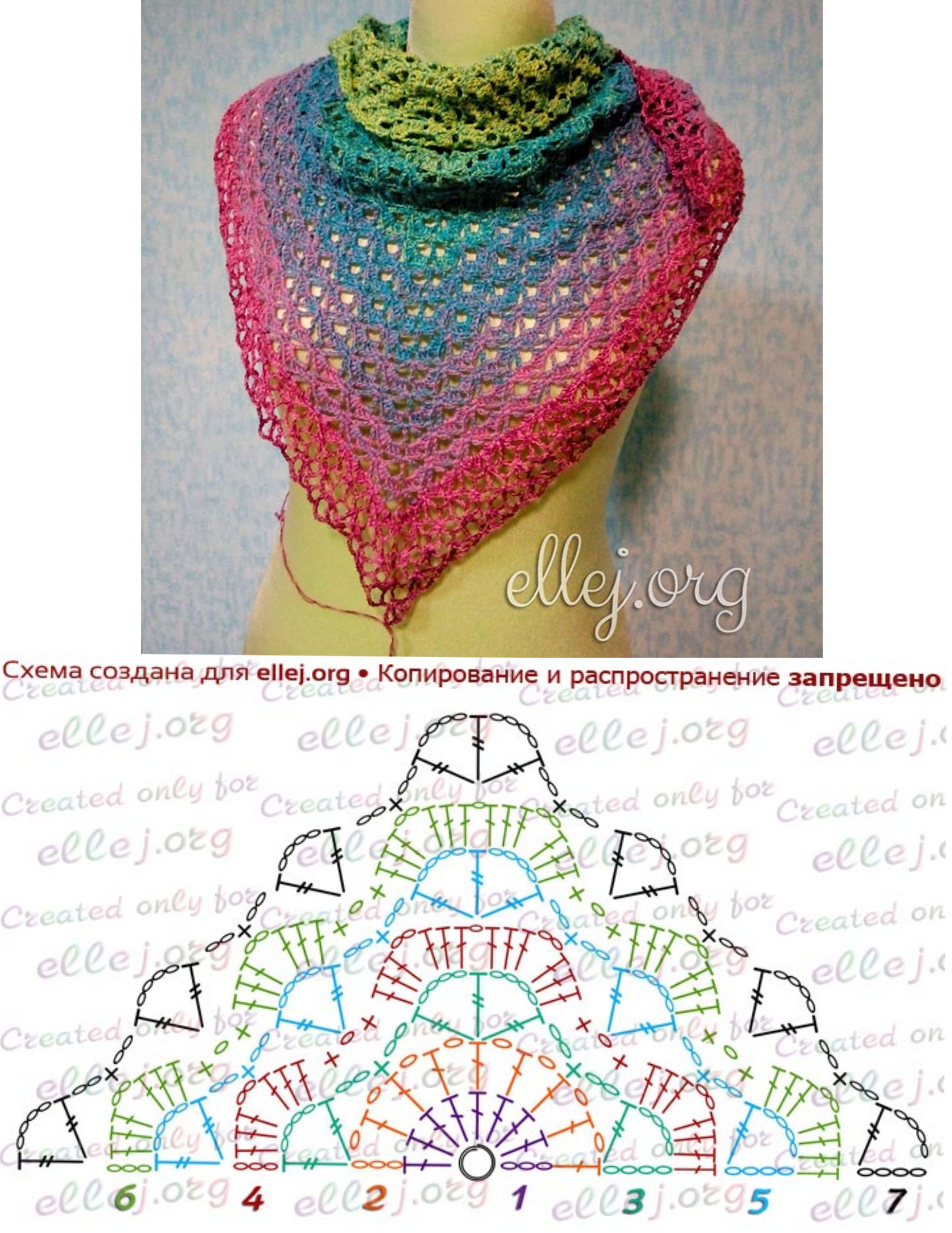 Pin de Martine Faucher en Crochet - Scarf / Foulard | Pinterest ...