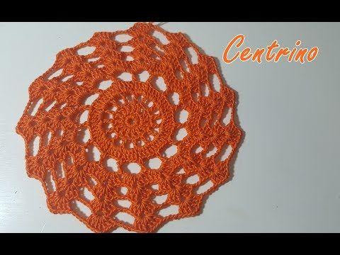 Centrino Arancione Alluncinetto Facile E Bello Tutorial Schema