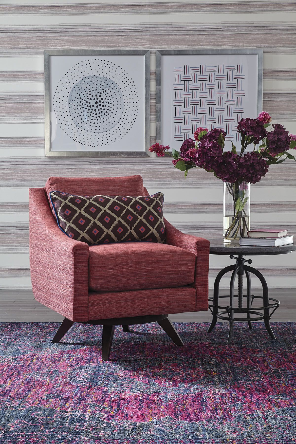 Be Bold With The Bright Pink Astra Swivel Chair