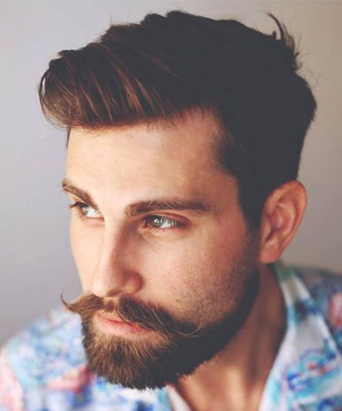 A stylish handlebar with a short beard