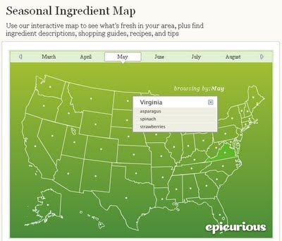 I love this interactive seasonal ingredient map.  So handy!  Looks like I should pick up some asparagus next weekend...