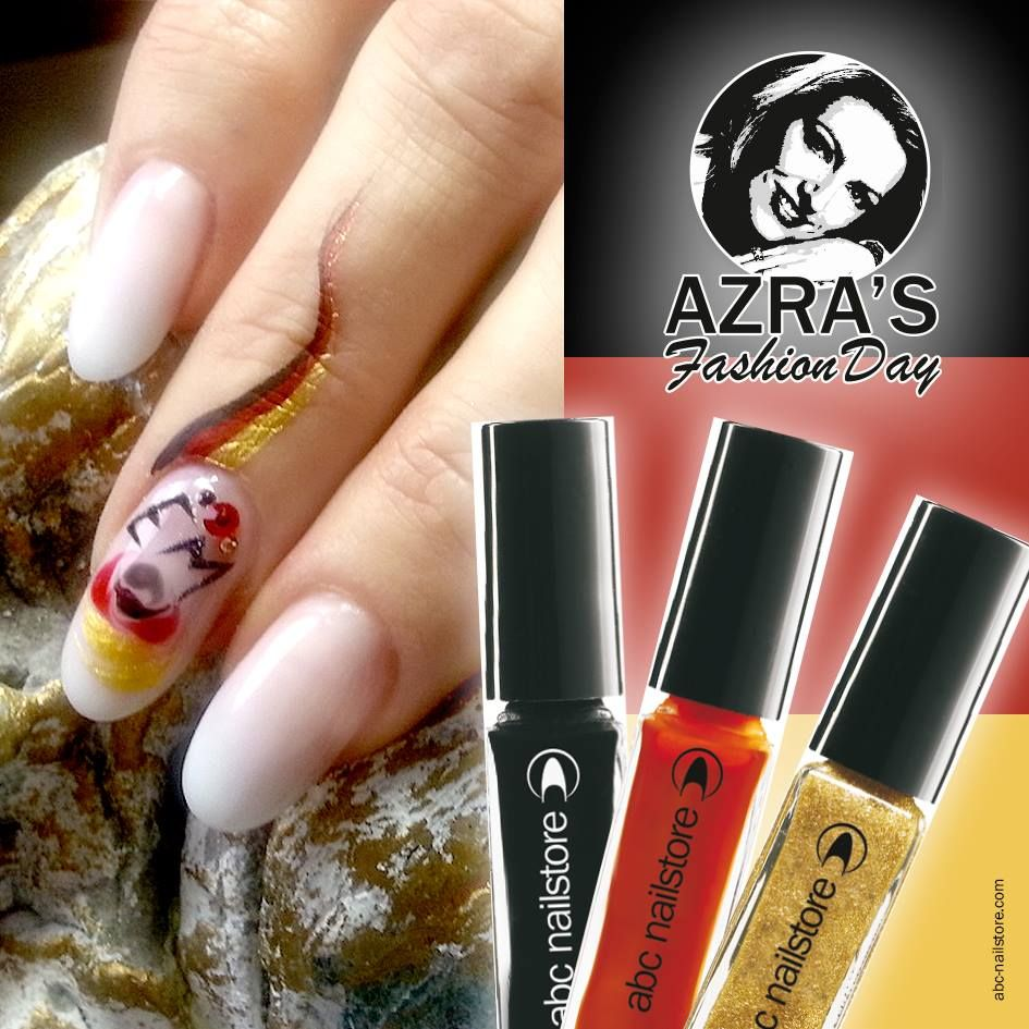 Azra S Fashion Day Fan Nagel Zur Fussball Em 2016 Nailart Keep