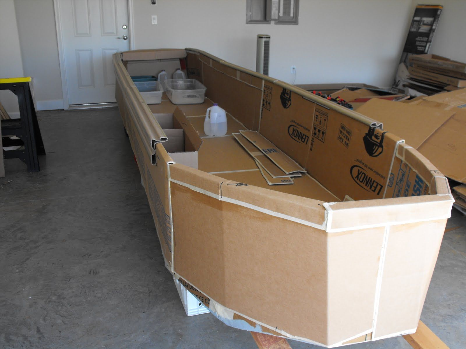 Cardboard boat plans google search kid 39 s stuff for Boat mailbox