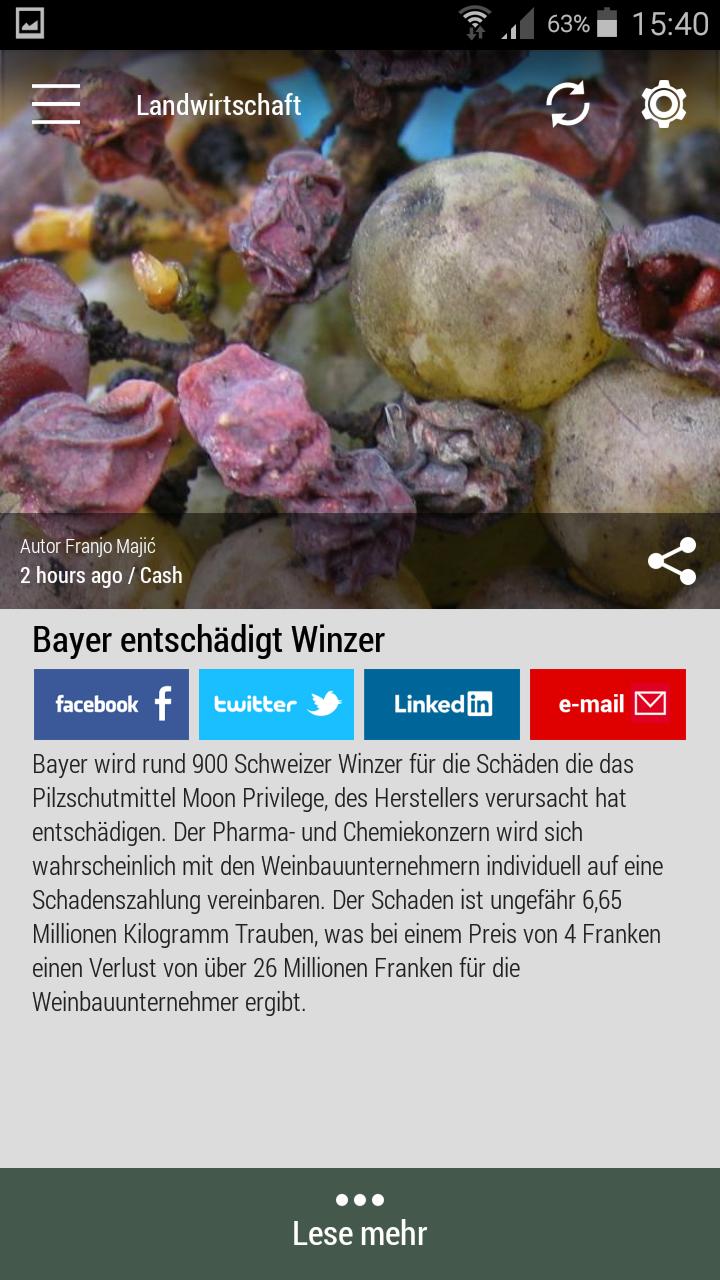 #Born2Invest: die besten Geschäfts- und Finanznachrichten aus den vertrauenswürdigen Quellen. Jetzt unsere kostenlose Android App herunterladen. #bayer #trauben #pharma #winzer