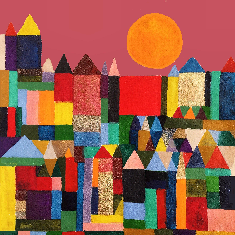 Paul Klee Cityscape Colourlivingblog Abstrakte Kunst Malerei Paul Klee Bilder Kunst Klassenzimmer